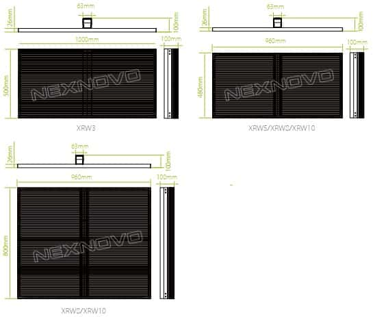 transparent led display specifications